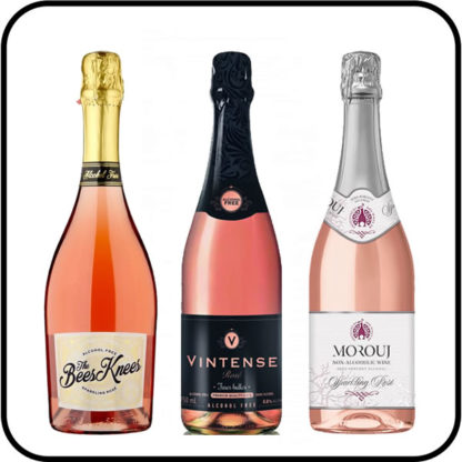 Sparkling Alcohol Free Rosé Collection from Dry Drinker