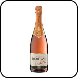 Festillant Alcohol Free Sparkling Rose Wine Dry Drinker