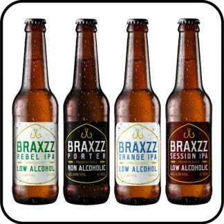 Braxzz Mixed Case low alcohol Dry Drinker