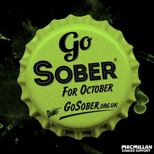 Go Sober for October bottle top logo Dry Drinker