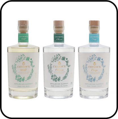 Ceder's Non Alcoholic Spirit Mixed Case 3 x 50cl Buy online from Dry Drinker