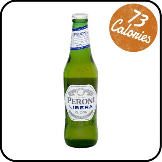 A bottle of Peroni Libera 0.0%. Buy from Dry Drinker, UK's most trusted alcohol-free store-