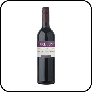 A bottle of Carl Jung Cabernet Sauvignon non alcoholic red wine