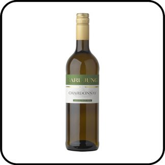 A bottle of Carl Jung Chardonnay Non Alcoholic White Wine