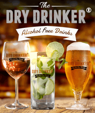 Dry Drinker branded glasses