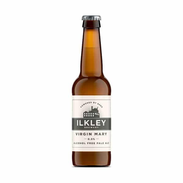 Bottle of Ilklely Virgin Mary Pale Ale 0.5%