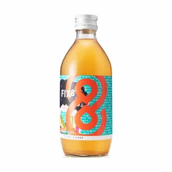 Bottle of Fix8 Kombuchak Triple Ginger Kombucha