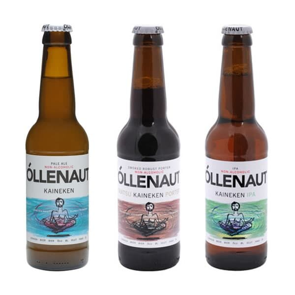 Mixed case of three Kaineken beers