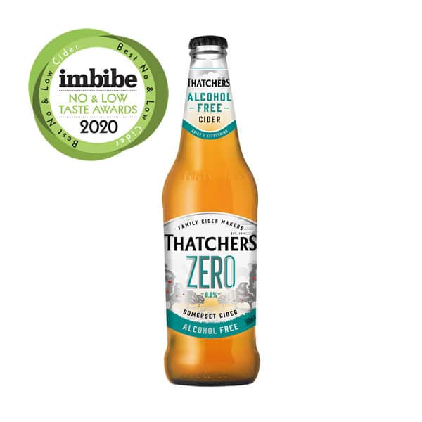Gluten Free Bottle of Thatchers Zero Cider sold by Dry Drinker