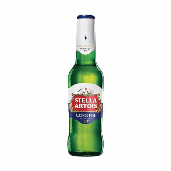 Bottle of Stella Artois 0.0%