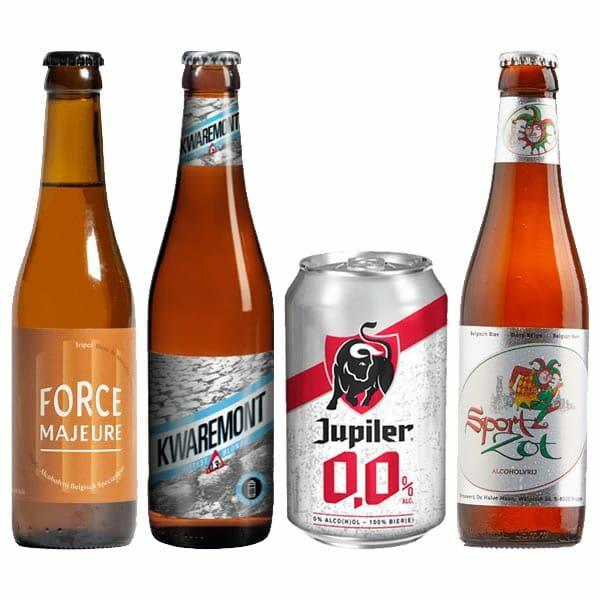 Bottles of Belgian beer mixed case Dry Drinker